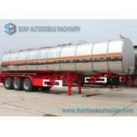 Ellipse Steam Heat Bitumen Tank Trailer , 28000L 2 Axle Semi Truck Trailer