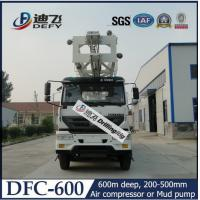 Best 600m DFC-600 truck mounted hydraulic rotary water well drilling rig machine wholesale