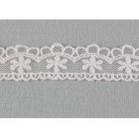 Best Floral Embroidered Lace Trim Scalloped Mesh Lace Ribbon For Fashion Dress Designer wholesale