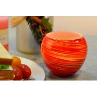 Best Colorful Glass Candle Holder for Wedding Decor , Red Yellow Color Material Mixed Planet wholesale