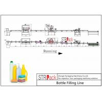 China Cleaner Bottle Filling Line With Anti corrosive Gravity bottle Filler and Rotary Capping Machine on sale