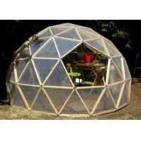 Best Q235 Multi-functional Transparent White Geodesic Dome Tent With Hop Dip Galvanized Steel Pipe wholesale