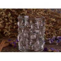 Best Transparent Thick Clear Glass Candle Holders Set With Nailed Pattern wholesale