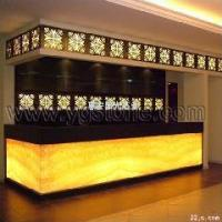 China Customize Translucent Resin Panel Hotel Decoration Furniture on sale