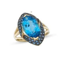 Best Blue Topaz and Sapphire 14K Gold Ring wholesale