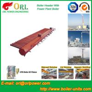 Best Longitudinal Oil Fired Boiler Header Manifold Once Through For Power Plant wholesale