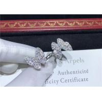 Best 18K White Gold Van Cleef And Arpels Butterfly Ring With 70 Diamonds wholesale