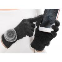 Cheap Dark Grey Ladies Touch Screen Gloves , Winter Gloves With Touch Screen Fingers  for sale