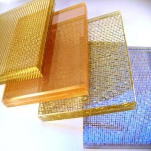 China Aluminium Frame Art Laminated Glass Requirements Wall Textured PVB Long Lifespan on sale