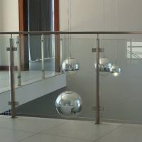 Best 304 Stainless Steel Post Tempered Glass Balcony Railing Design wholesale