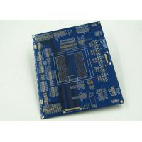 Best Blue Multilayer PCB For Controller White Silkscreen Gold Surface Finish wholesale