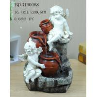 Angel Hand Painting Polyresin Water Fountain Landscape Electricity Power