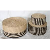 Best Paper pouf, cylindrical pouf, black &brown color design, made in China wholesale