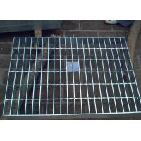 Best Galvanized Steel Grating Drain Cover With Angle Frame Urban Road / Square Suit wholesale