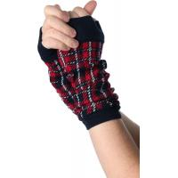 Best Red / Green + Black Knitted Arm Warmer , Women's Free Fingerless Gloves Knitting Patterns For Arm Warmers wholesale