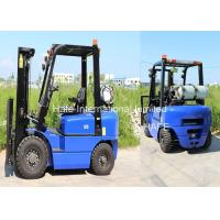 China Manual LP Gas Forklift 2.5T 3m 3680kg Self Weight With Solid Tires And Fork Extension on sale
