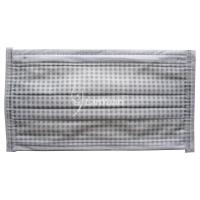 Best Single-piece Package Gray and White Small Checked Pattern Face Mask wholesale