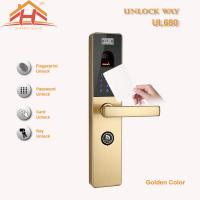 Best Touch Screen RFID Card Biometric Fingerprint Door Lock With Keyless , CE / FCC wholesale