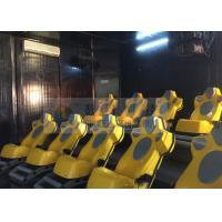 Best Interaction Reality 7D Movie Theater With Yellow Motion Seats wholesale