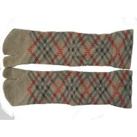 Best High Performance Comfortable Light Brown Cotton Two Toe Socks For Women / Girls wholesale