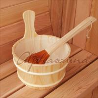 China 4-6 Persons Deluxe Traditional Sauna Kit , Barrel Spa Room Red Cedar on sale