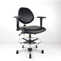 Cheap Anti Static And Synthetic Leather Ergonomic Stool For High Work Bench Lab And for sale