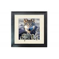 Cheap 5D Effect Wolf 3D Lenticular Photo Printing For House Decoration MDF Frame for sale