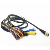 Best Vehicle CCTV Backup Camera Cable 9pin Din To 2x4pin Plug With DC Connector wholesale