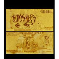 Buy cheap Italy 999 Gold Foil Italy 500000 Lire Gold Foil Banknote For Office Decoration from wholesalers