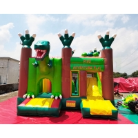 China EN71 Dinosaur Adventure Play 5x5x3.5M Inflatable Kids Bouncer on sale