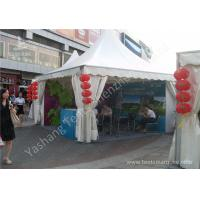 Quality White PVC Textile Cover Weather Resistant High Peak Tents , Outdoor Gazebo Tent UV Resistance wholesale