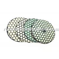 Best 100 mm Dry Diamond Polishing Pads 200 / 800 /1500 Buff With Durable Resin Compound wholesale