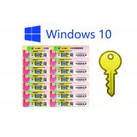 Best 100% Genuine Windows 10 Pro COA Sticker , Windows Pro Fpp Multilingual Version wholesale