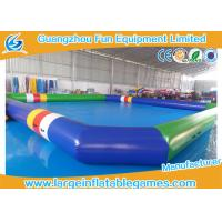 Details of 0 9 mm pvc tarpaulin blue green inflatable for Cheap above ground pools for sale