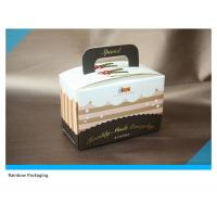 Best Beautiful And Attractive Cake Packaging Paper Box Packaging With Take Away Handle wholesale