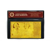 Best £50 Pounds Plated 24K Gold Banknote wholesale
