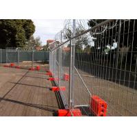 Best Construction Site Temporary Cyclone Fencing With Q195 Iron Wire Materials wholesale