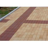 Best Low Water Absorption Outdoor Wood Floor Tiles , Thin Brick Pavers For Garden / Landscape wholesale