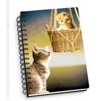 Buy cheap Cartoon Pet Hardcover 3d Lenticular Notebook With Spiral Binding For Student Diary from wholesalers