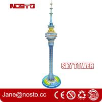 Best Sky tower children novelty toys 3d puzzle building diy assembly toys for kids wholesale