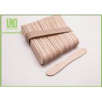 Best Disposable Lolly Pop Ice Cream Wooden Sticks , 114mm Natural Wooden Sticks wholesale
