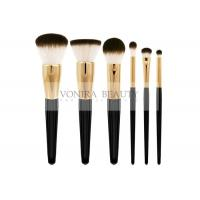 Best Classic Goat Hair Makeup Brush Set Three Tone Natural Hair Makeup Brushes With Gold Ferrules wholesale
