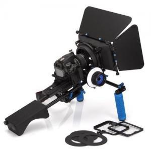 Best DSLR RIG Kit Shoulder Mount+Follow Focus+MatteboxFor dv / dslr Camera Canon 550D 500D wholesale