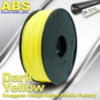 Best Dark Yellow ABS  Filament ,  Filament 3D Printing Plastic Material 1.75 / 3mm wholesale