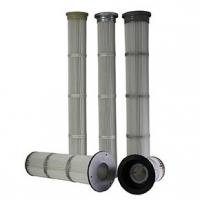 Best Low Pressure Drop Pleated Filter Cartridge , Industrial Hepa Filter Careful Construction wholesale