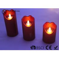 Best Energy Saving Dancing Flame Led Candle With Moving Wick 210 / 280 / 320g wholesale