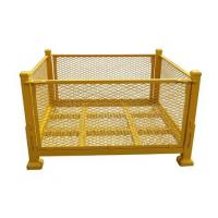 Buy cheap Yellow Callapsible Metal Storage Containers / 1000 Kg Capacity Pallet Stillage from wholesalers