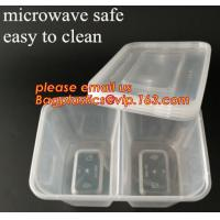 Best Disposable Plastic 4 Compartment Food Thermal Lunch Container Box,Plastic Takeaway Food Box with conjoined cover bagease wholesale