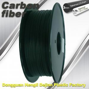 Best High Strength Carbon Fibre 3D Printer Filament 1.75 Mm Scrub Black 220°C Melt Print wholesale