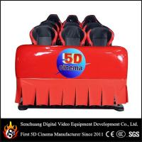 Best 6 Dof Hydraulic 5D cinema / 9d cinema , 5D Movie Equipment with difference color wholesale